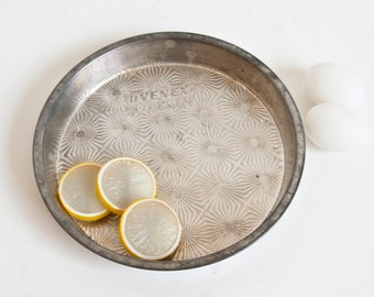 Vintage Ekco Ovenex Pie Pan, Starburst Pattern Cake Baking Tin