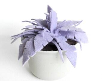Purple Felt Fern in Plastic Pot· Potted Plant· House Plant· Kid Friendly· Felt Plant· Desk Plant· Fake Plant· Housewarming· Felt Succulent