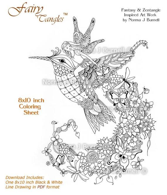 Follow Me Fairy Tangles Printable