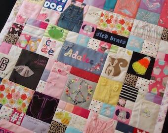 Small Throw | Baby Clothes Quilt | Custom Quilt Deposit | First Year Quilt | Memory Quilt | Keepsake Quilt | Handmade Quilt | Quilt | Canada