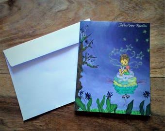 """La Nuit"" correspondence card"