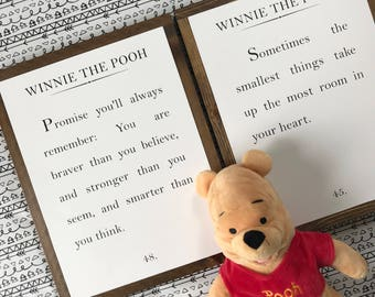 Winnie The Pooh / Pooh Nursery / Wood Sign / Pooh Quotes / Winnie The Pooh Wood Signs / Pooh Wall Art