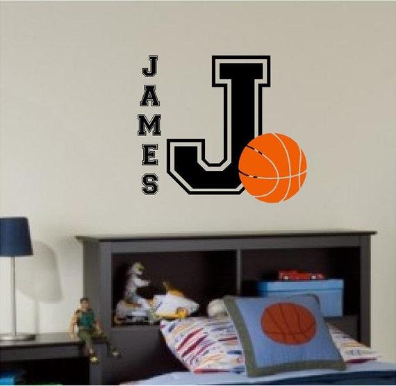 Custom Basketball Sports Themed Name Children Boy Girl Bedroom