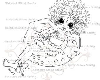 INSTANT DOWNLOAD Digital Digi Stamps Big Eye Big Head Dolls Messy Bessy IMG830 My Besties By Sherri Baldy