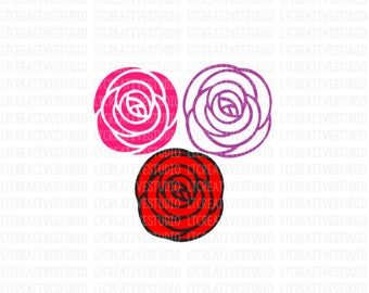 Roses SVG, Flowers SVG, Rose SVG, Svg Files, Cricut Files, Silhouette Cut Files