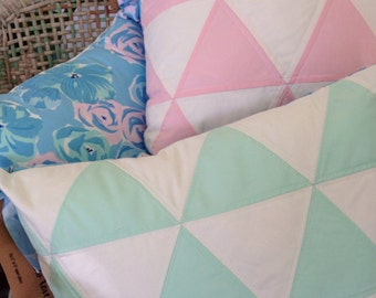 Quilted Triangle Pillow Cover