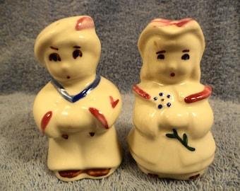 Shawnee Bo Peep And Boy Blue Salt And Pepper Shaker