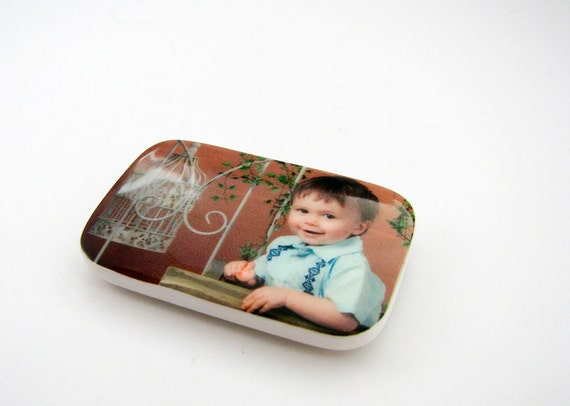 Custom Photo Brooch with Magnetic Back - 03MB