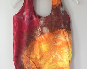 Ice Dyed Stuffable Tote Bag, #159