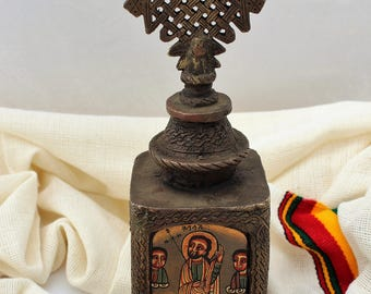 Antique Ethiopia iconography, Christian Art resembles the Ethiopian Churches,Ethiopian Art,Ethiopian Orthodox Christian tower Icon.