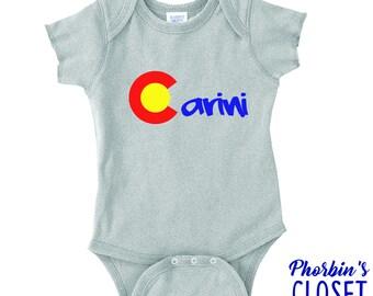 Phish Baby, Carini Baby, Phish Onesie, Phish Shirt for Baby, Colorado Baby Onesie, Colorado C Shirt, Carini Baby Shirt, Carini Shirt