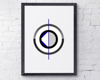 Blue Circles 2 Wall Decor /Modern Wall Art /Contemporary Art / Wall Print / Art Prints / Wall Art / Printable Art / Download /Wall Art Decor