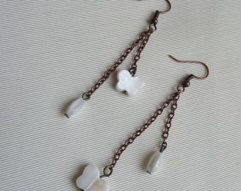 COPPER PEARL EARRINGS AND NECKLACE