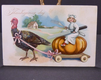 1907 Raphael Tuck Thanksgiving postcard