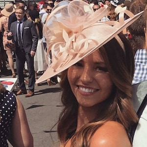 Alisha ..Nude blush Feather Fascinator..Stunning Sinamay Fascinator on a Headband..
