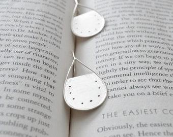 Dangle earrings , Sterling Silver , Teardrop ,  miniature handbags , handmade , Unique , wabisabi , modern , Contemporary