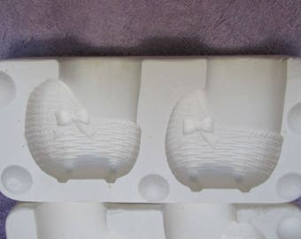 Delta 444 Two Small Baby Carriages Ceramic Mold  S9
