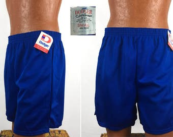 Vintage 80s - 90s Dodger Brand Athletic Shorts SMALL // NOS // NWT // Gym // Running // Workout // Basketball // Deadstock // Blue // Retro