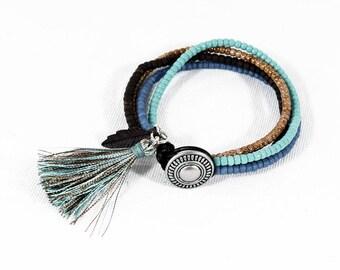 Southwestern Jewelry, Cowgirl Bohemian Wrap Bracelet, Western Leather Wrap, Hippe Chic Jewelry