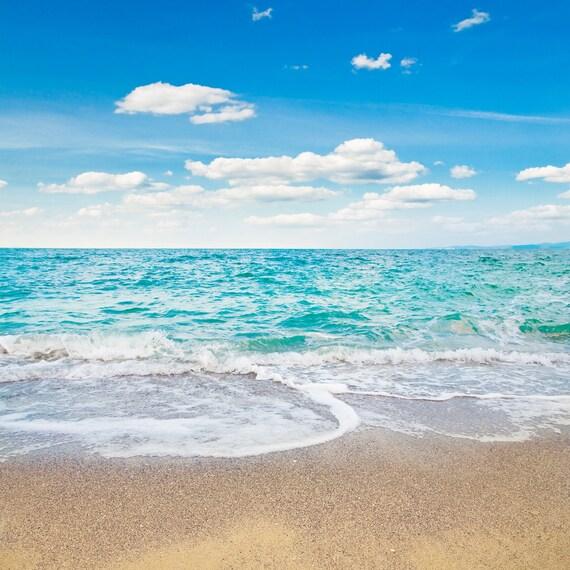 Fantasy Sea Beach Backdrop Blue Water Sky Summer Romantic
