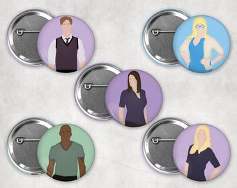 1.25in Criminal Minds Digital Drawings Buttons