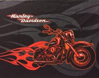 Harley Davidson Fabric Etsy