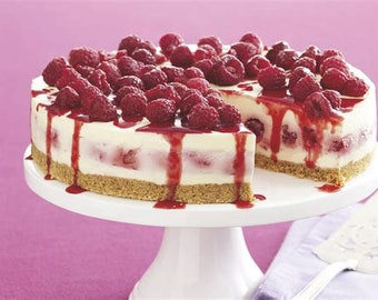 "White Chocolate Raspberry Cheesecake Candle! 9"" Full Size!"