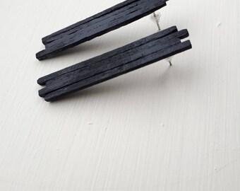 stix . wooden . earrings