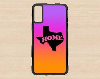 iPhone 10 X Case - Texas Gradient Purple Home Silhouette