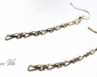 Fancy chains earrings silver