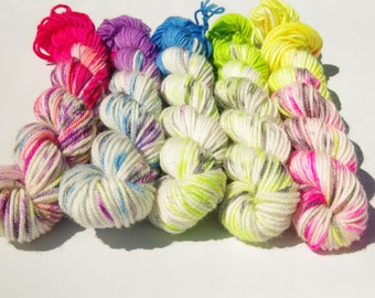 Hand Dyed Luxury Yarn Mini Skeins Set