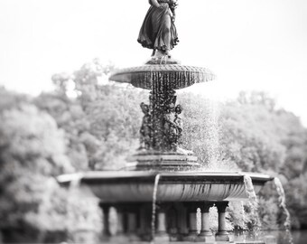 New York Photography - Angel of the Waters, Bethesda Terrace Fountain, Central Park, Urban Home Decor, Large Wall Art