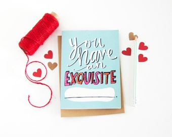 Funny Love Card - Anniversary Card - Fill In The Blank - I Like You Card - Long Distance Relationship Card - Miss You Card