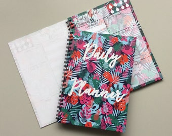 Tropical Planner Notebook, SECOND QUALITY, To Do List Notebook, Daily Planner Notebook, Spiral Notebook, Pineapple Notebook Planner
