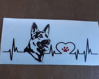 German Shepherd decal-dog lover gift-dog breed-gift for dog lover-dog stickers-dog decal-car decal- pet decal-gifts for dog lovers-dog gift