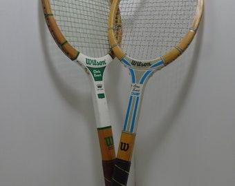 Vintage Wilson Chris Evert Wooden Tennis Racquet - Pair Of 2