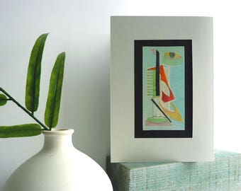 GIRL TALK - contemporary modern art gift for her, unique artwork, mother's day gift