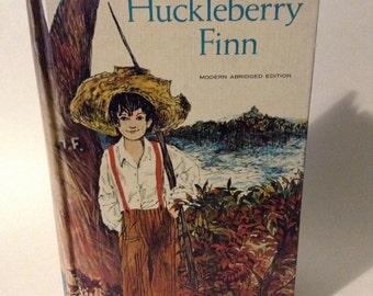 Vintage Huckleberry Finn Novel by Mark Twain