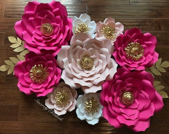 Pretty in Pink Flower Set, Baby Shower decor, Wedding Decor, Bridal Decor, Backdrops, Grand Opening SALE!