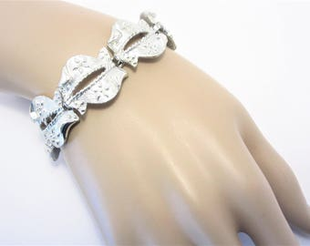 Signed STAR Vintage Wide Link Bracelet 50s