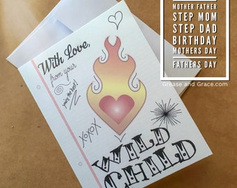 Mom, Dad, Father's Day, Mother's Day, Step Mom, Step Dad, Birthday, Just Because Card - Digital Download or Print