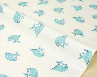 Japanese Fabric Kerchief Girls laminated - aqua - 50cm