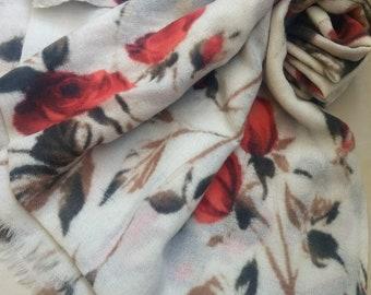 Rose Wool Scarf