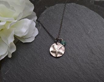 Silver starfish necklace, starfish jewelry, surf jewellery, beach jewelry, oxidised silver necklace, starfish pendant, summer necklace