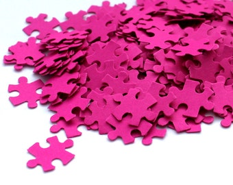 200 Puzzle Confetti,  Various Colours, handpunched, Rustic Wedding, Table Decor, flower girl, shape puzzle, punsch, paper, wedding