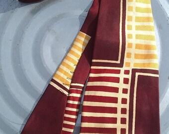 Tie necktie vintage Arrow USA 1940-50s rockabilly