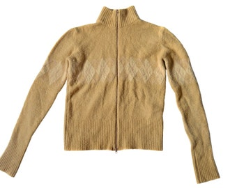 Vintage women beige waistcoat vest top made in Italy