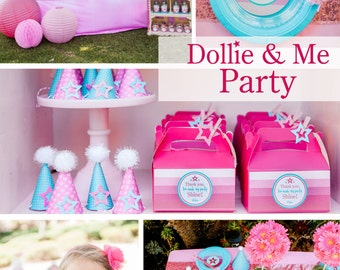 Dollie & Me Party theme, Doll theme party, Doll Inspired theme, Doll theme party invite