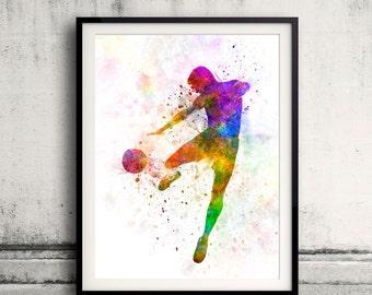 man soccer football player flying kicking 03 - SKU 0902