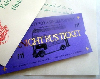 Wizarding Purple Bus Ticket for the stranded Witch or Wizard